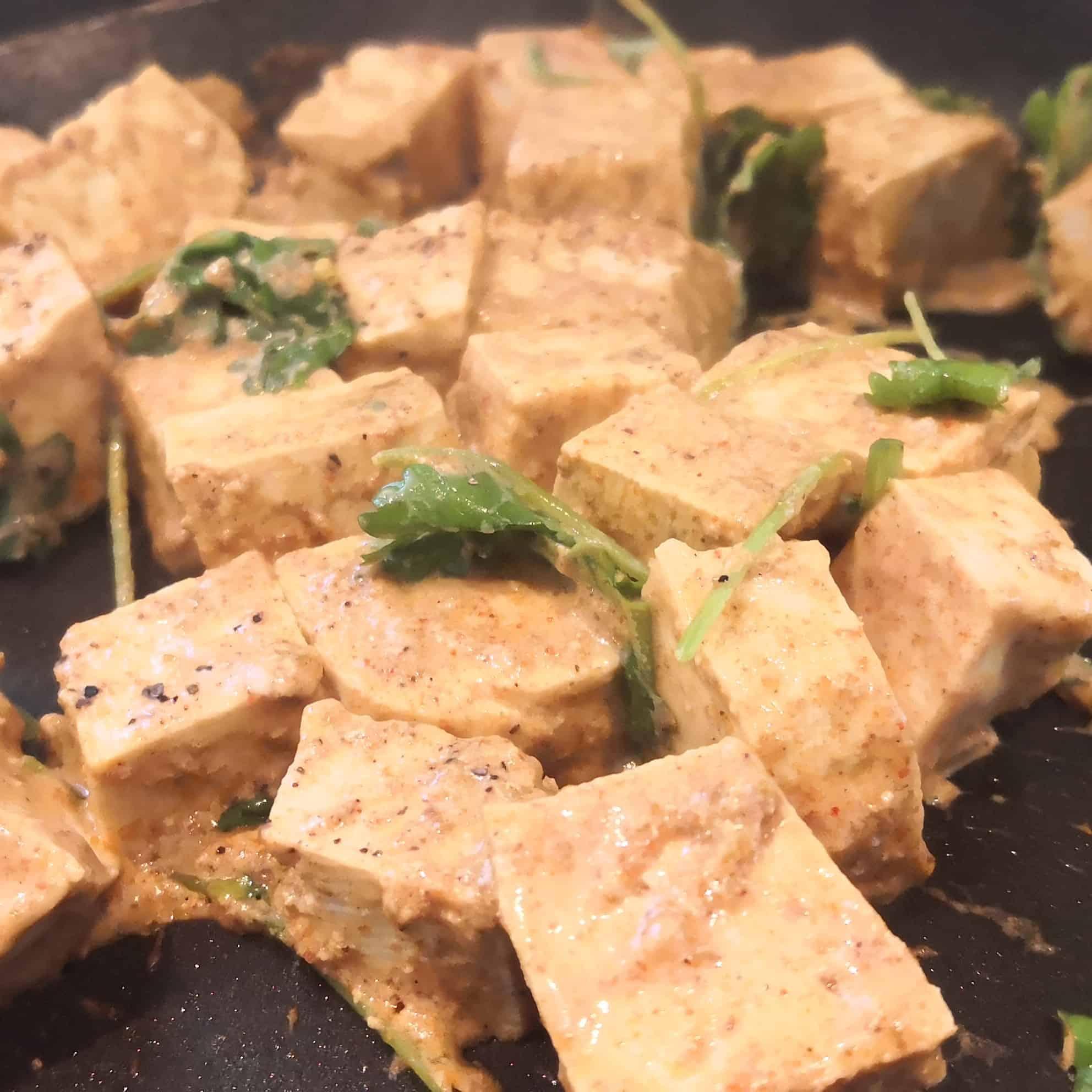 A photo of tofu tikka