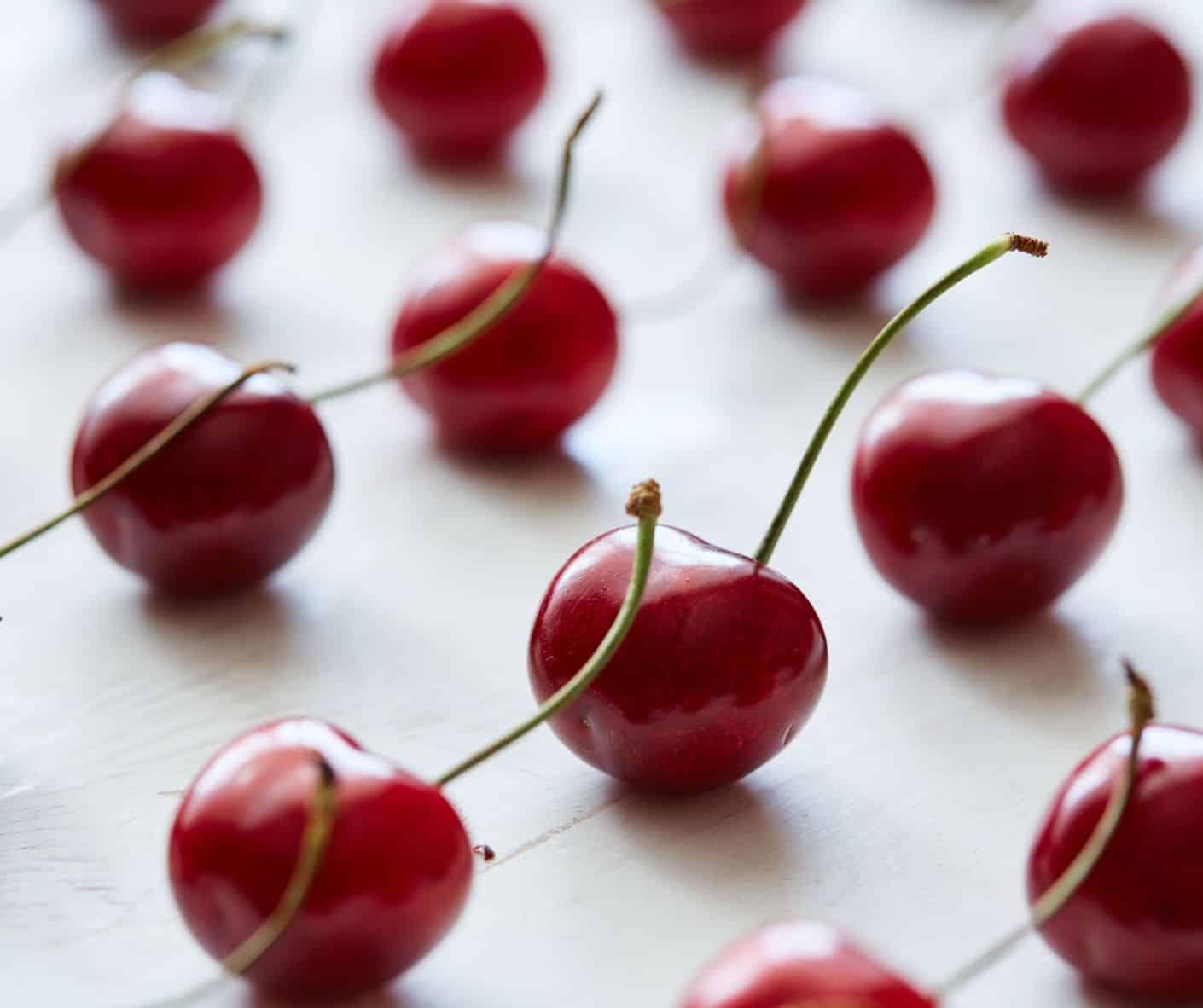Photo of red cherries